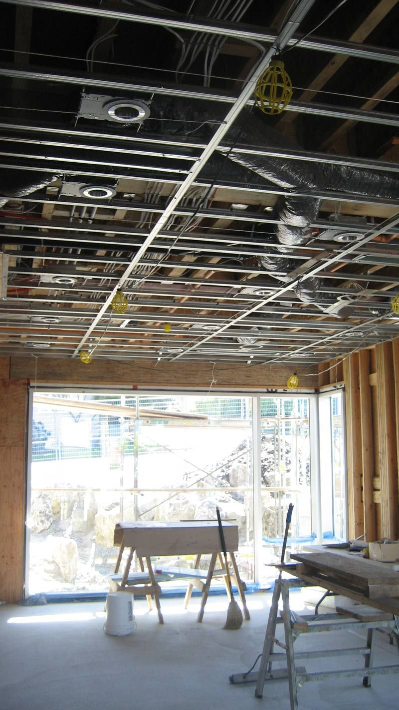 Residential Ceiling Exposed Hvac Electrical Wiring Pinterest York Ac Drywall Industrial Style Ceilings Arch