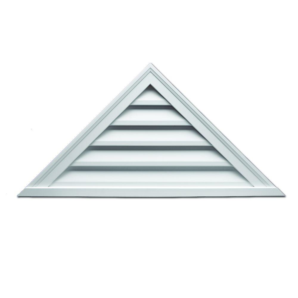 Fypon 60 In X 17 1 2 In X 2 In Polyurethane Functional Triangle Louver Gable Vent Ftrlv60x18 The Home Depot In 2020 Gable Vents Fibreglass Roof Louver Vent