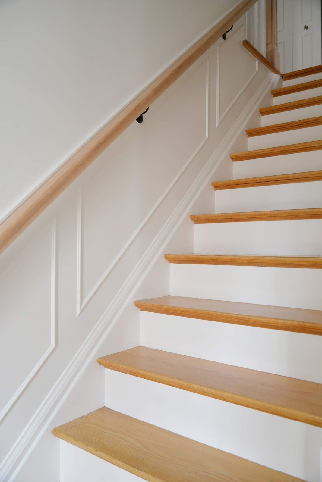 A Bright White Wow 1 Day Paint Transformation Stair Paneling House Trim Work
