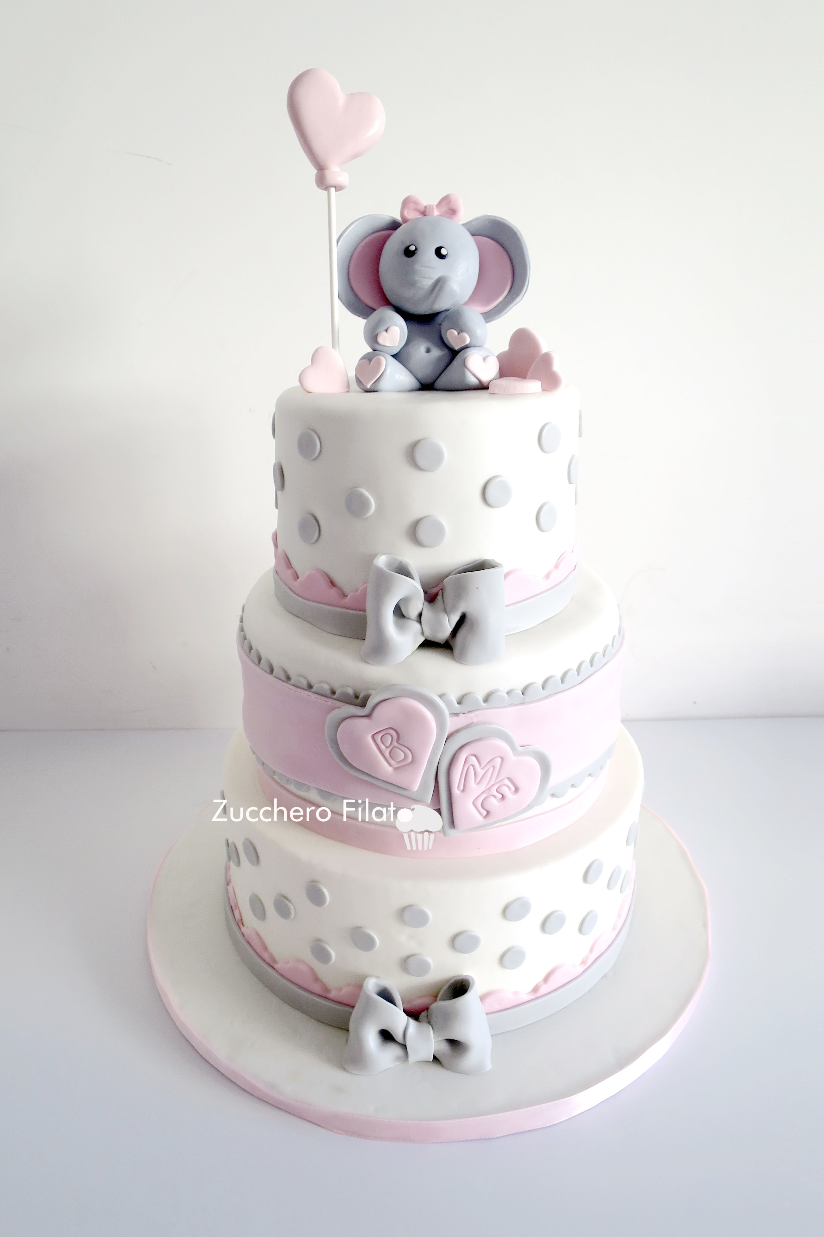 Pleasing Baby Elephant Cake Baby Girl Baby Shower Cakes Girl Elephant Funny Birthday Cards Online Overcheapnameinfo