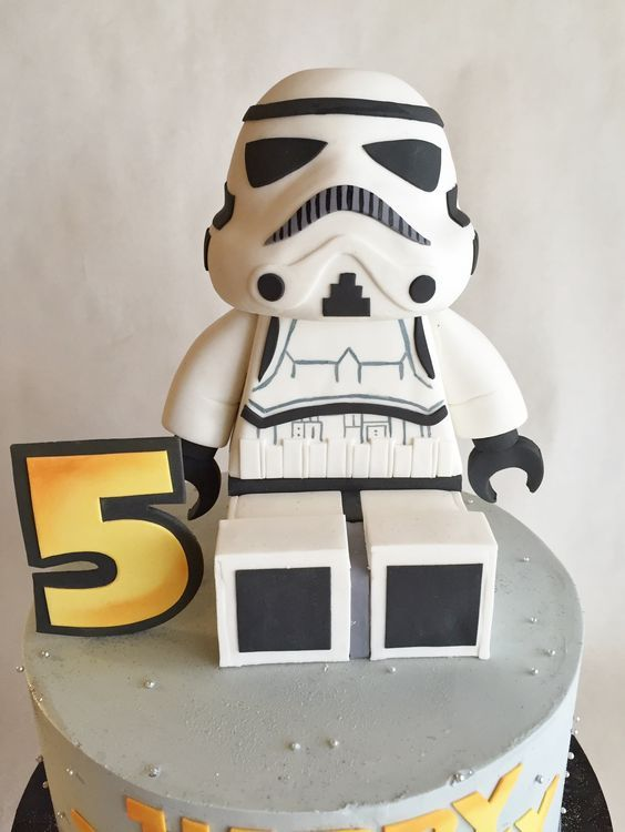 Birthday Cake Star Wars Stormtrooper Custom Topper Lego Storm Trooper