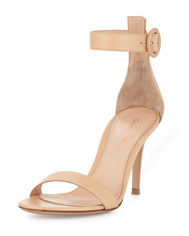 50dd2dfa08b58 Portofino Leather Ankle-Strap 85mm Sandal