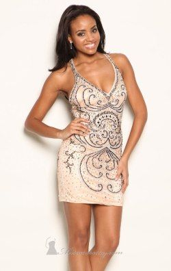 Sequined Gown by  Atria AC23126-2