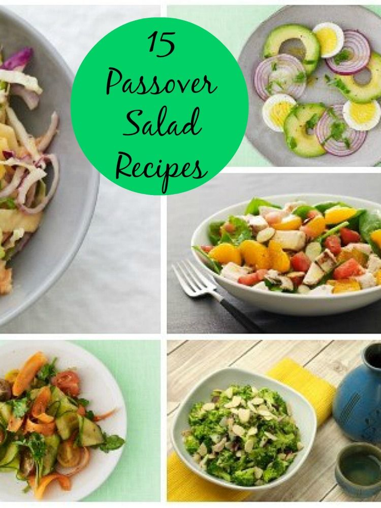15 Salad Recipes For Passover Countdown To Passover In