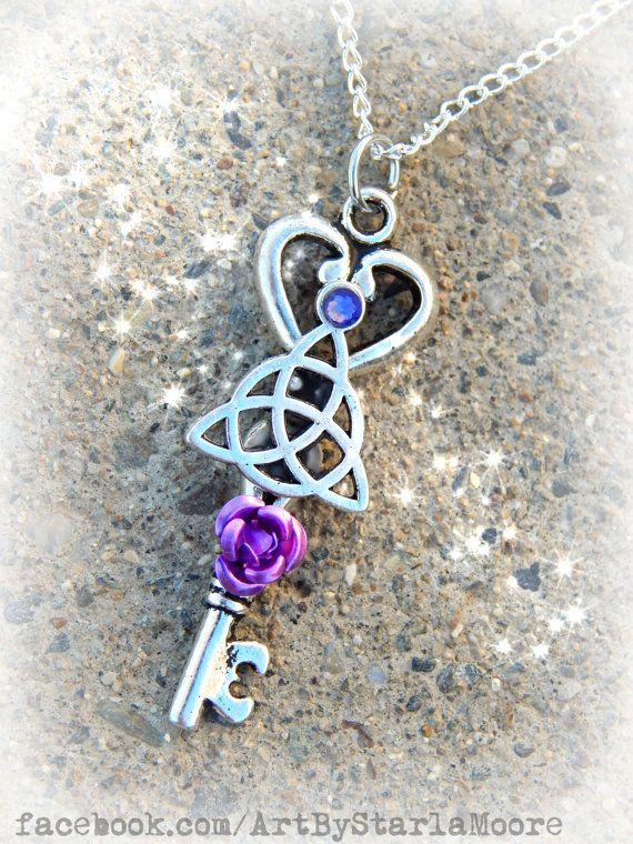 Celtic Trinity Fantasy Key Lilac by ArtbyStarlaMoore on Etsy, $17.00