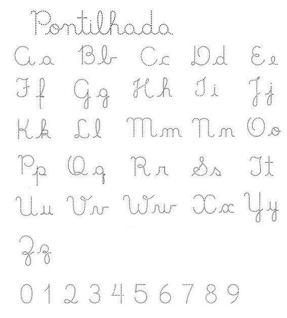 Alfabeto Pontilhado Para Imprimir E Colorir Exercicios De