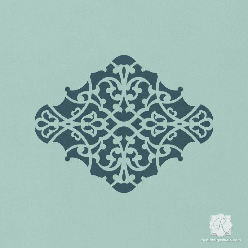 Alhambra Ornament Craft Stencil | Schablone, Vorlagen und Möbel