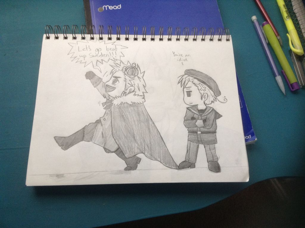 ((This is for you guys since you asked for my denmark drawing... It isn't the best but it's okay))
