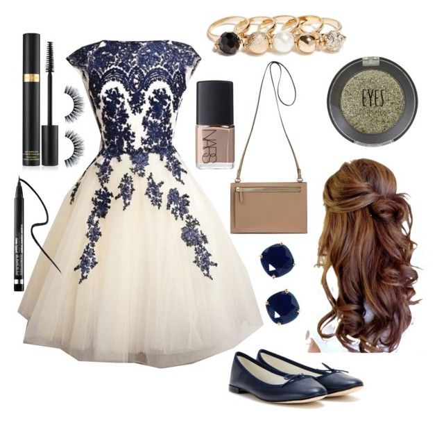 """""""Homecoming"""" by bandgeek0102 on Polyvore featuring Repetto, Kate Spade, Topshop, Tom Ford, Clinique, GUESS and NARS Cosmetics"""