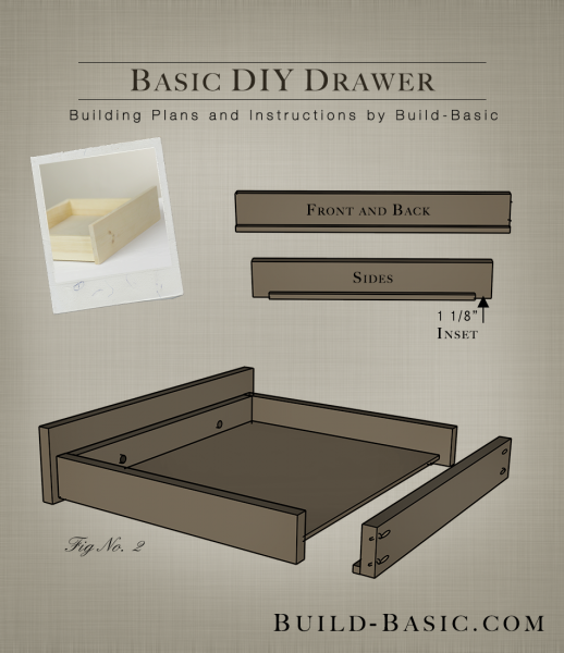 Build a Basic DIY Drawer Building Plans by BuildBasic