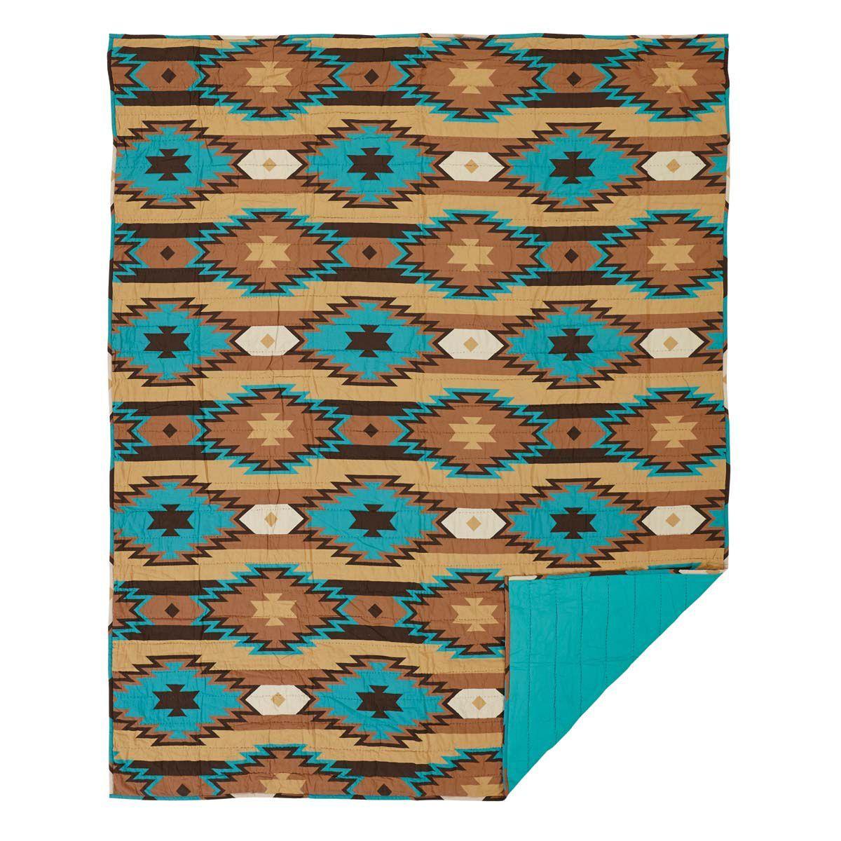 Santa Fe Turquoise Quilt in 4 Sizes