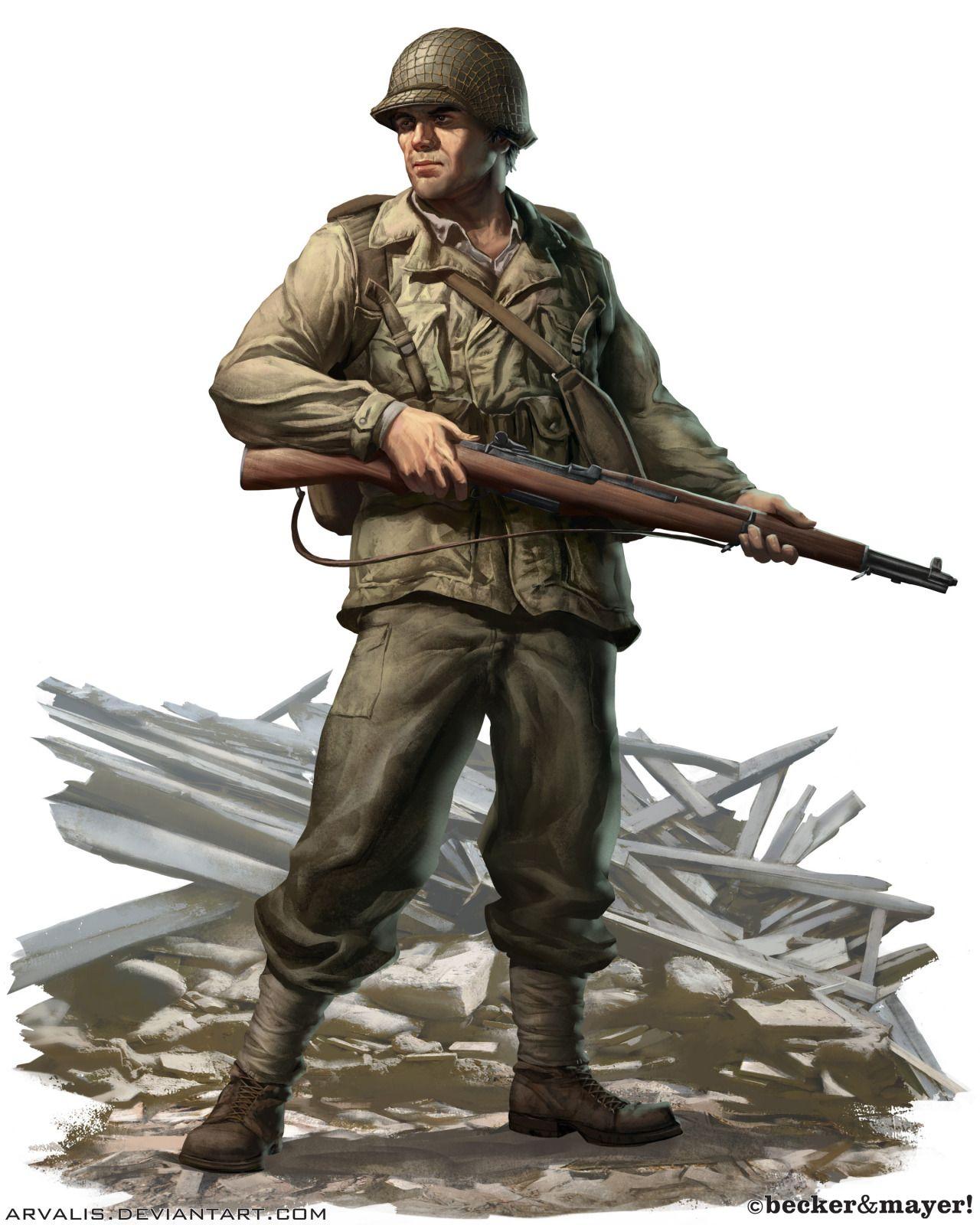 WWII U.S. Army Field Combat Soldier
