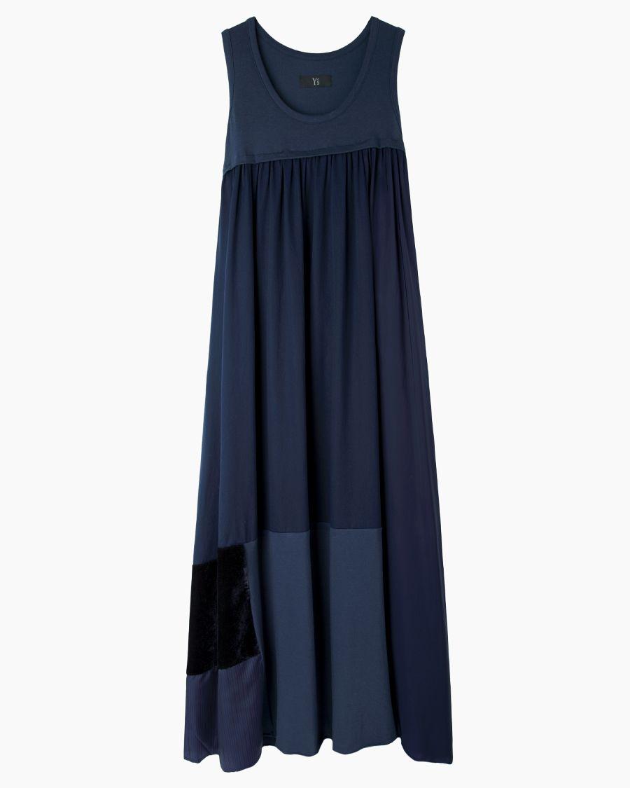 Y's / long patchwork tank dress