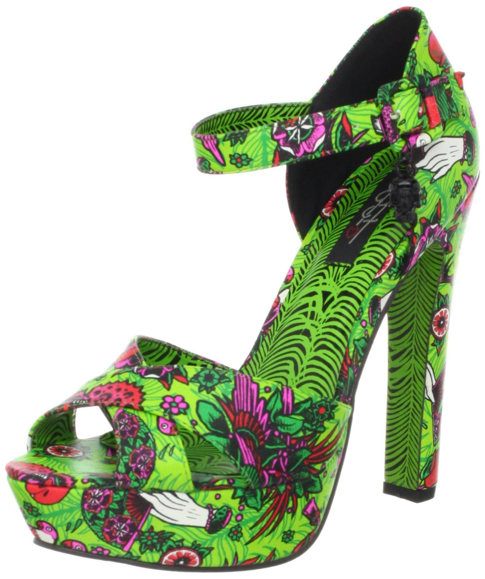 Iron Fist Women's Kokomoan Platform Sandal,Green