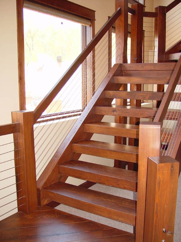 Amazing Adorondack Style Stairs | Images Of Railing Cable Wallpaper