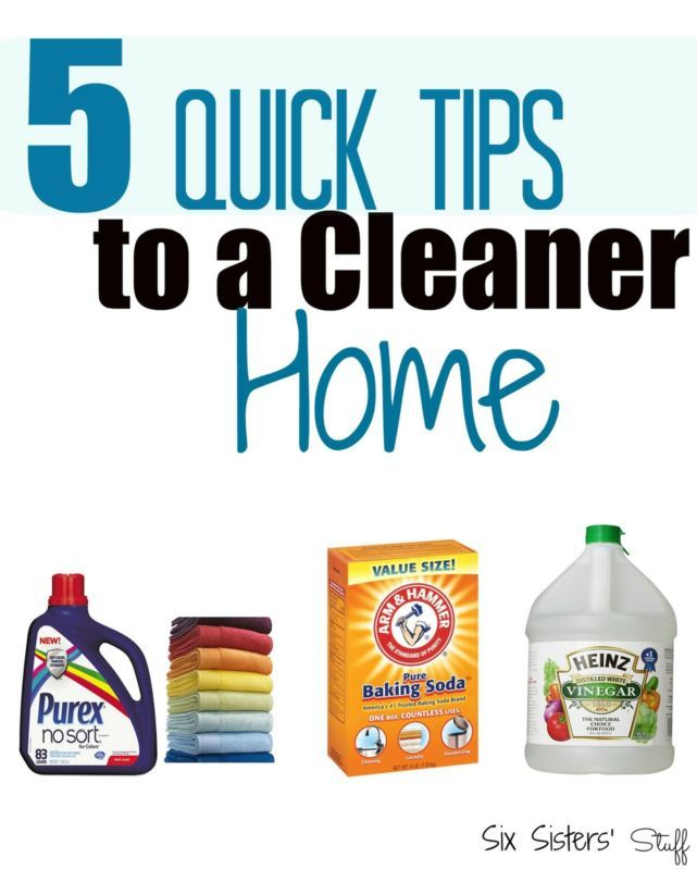 Five Quick Tips to a Cleaner Home | Cleaning | Cleaning ...