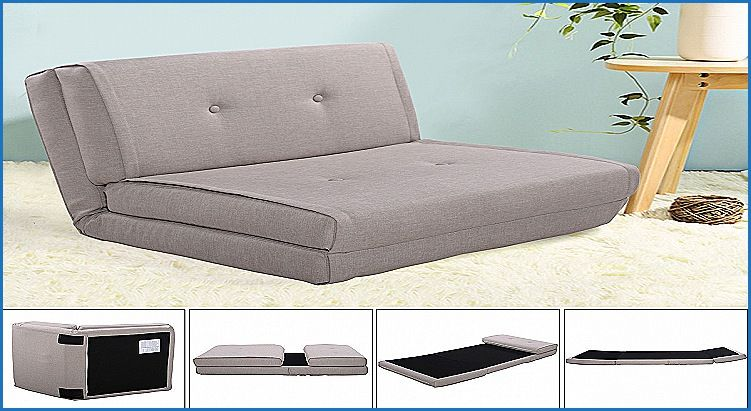 Inspirational Flip Chair Convertible Sleeper Dorm Bed Couch Lounger Sofa  Gray   Furniture Design Ideas