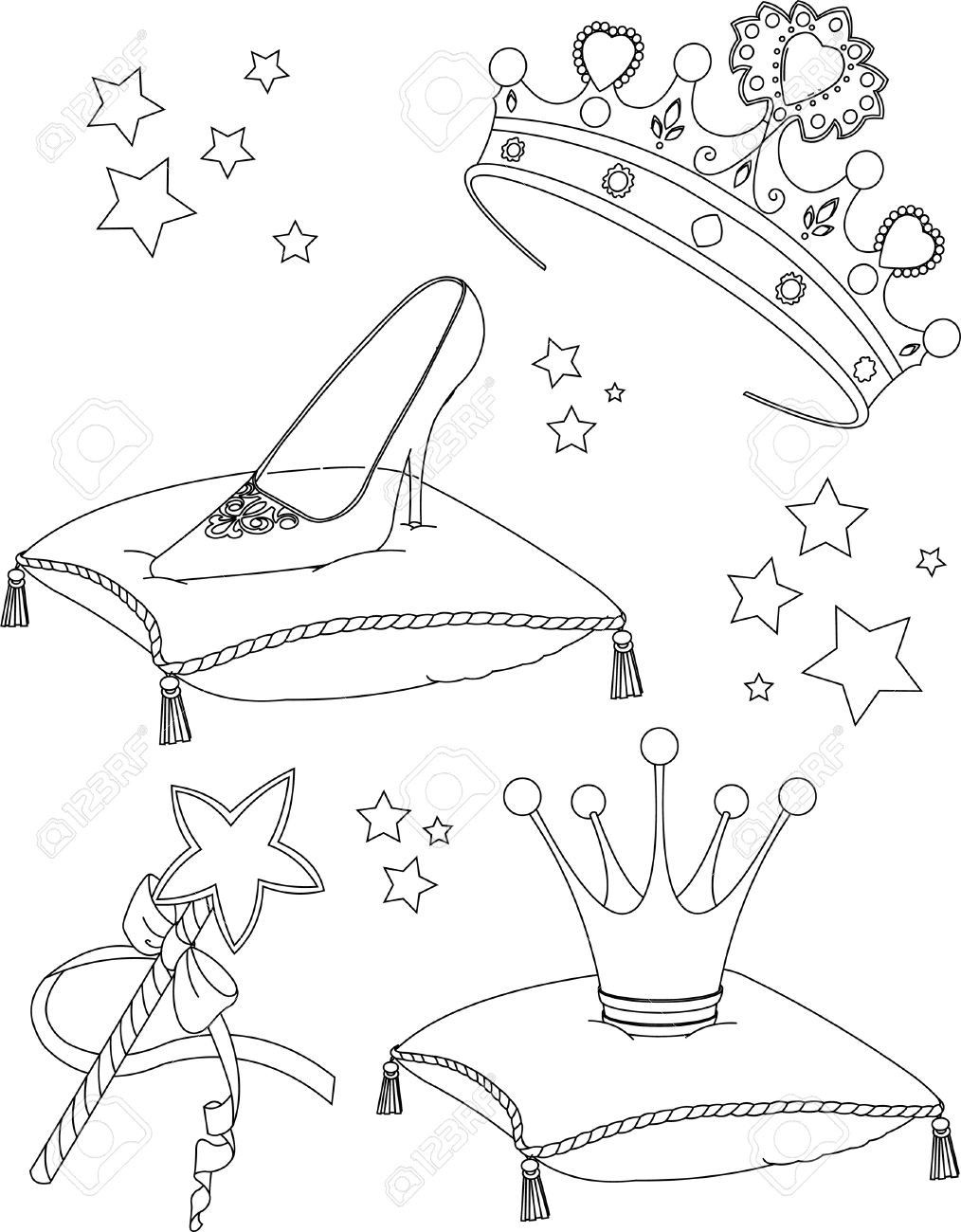 Princess Wand Coloring Page Cute Coloring Pages