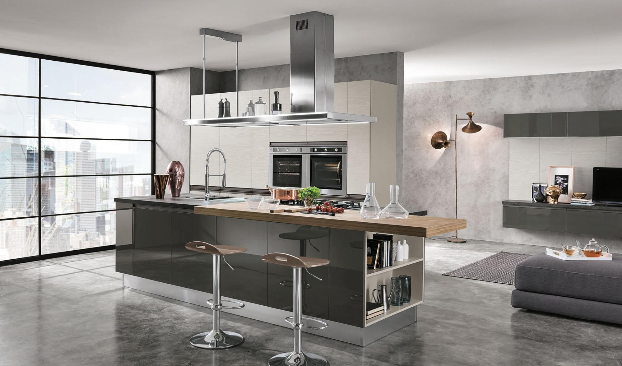 cucine artec Linea Grigio scuro Isola | Kitchen | Arredamento casa ...