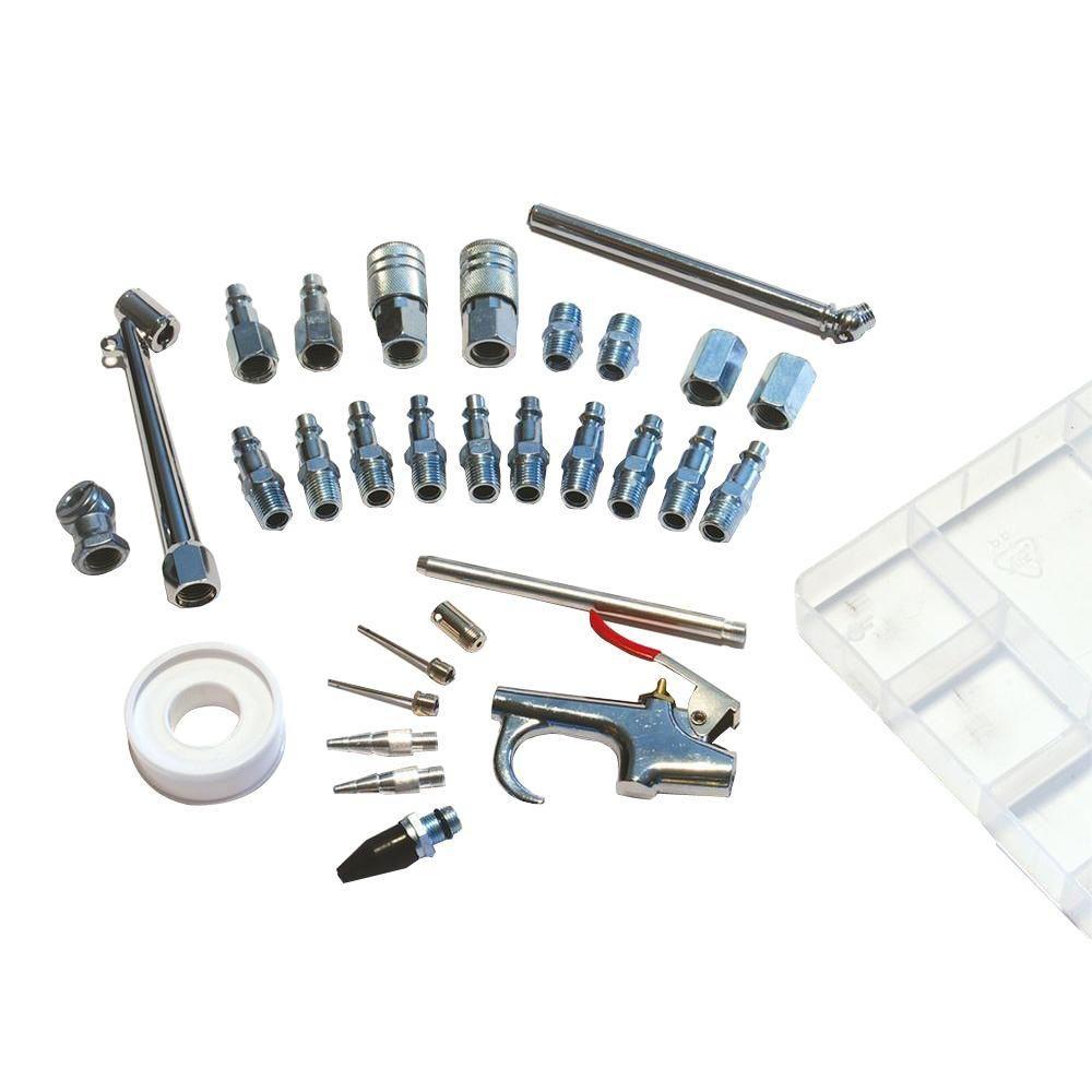Primefit 30 Piece Air Compressor Accessory Kit With Storage Case Air Compressor Air Tools Home Depot