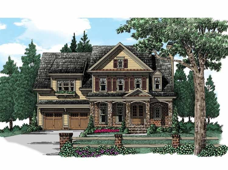 Eplans Cottage House Plan - Bright Open Family Room - 2845 Square Feet and 4 Bedrooms from Eplans - House Plan Code HWEPL74177