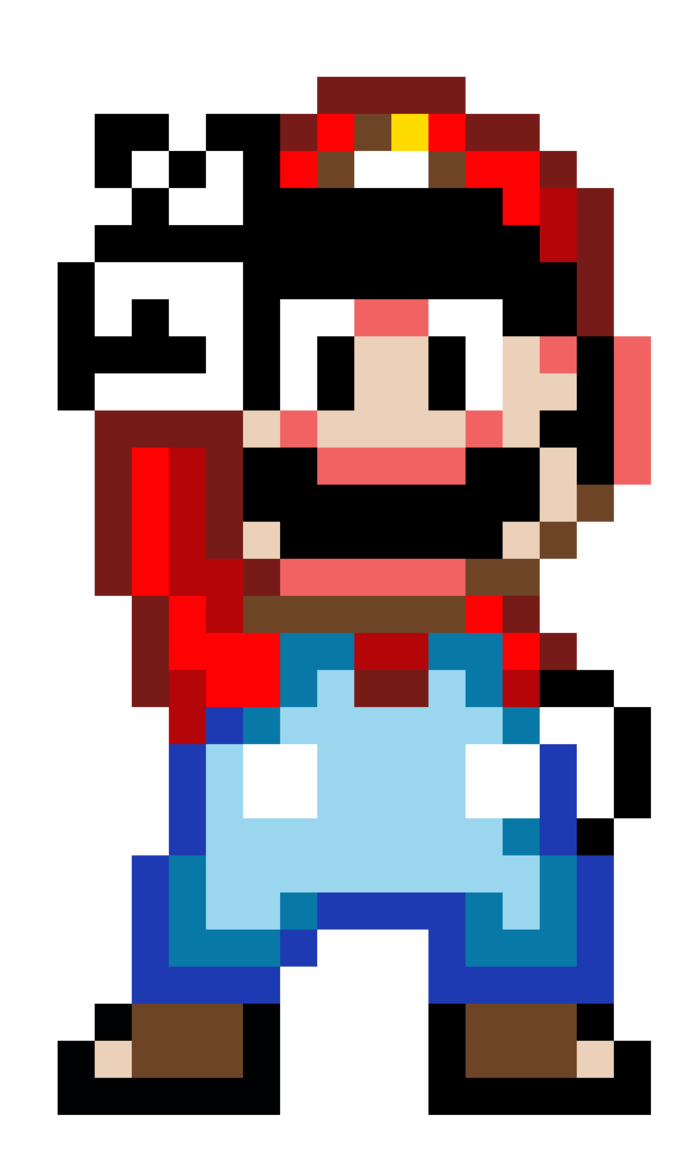 16 Bit Mario By Nathanmarino Dibujos Dibujos De Mario Videojuegos