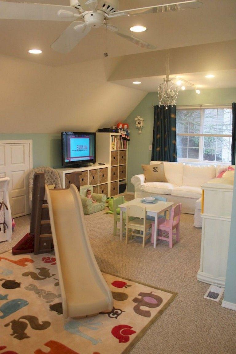 amazing Cute Basement Ideas Part - 8: 52+ Cute Basement Playroom Design Themes Ideas #playroomorganization  #playhousebuildingplans #playground