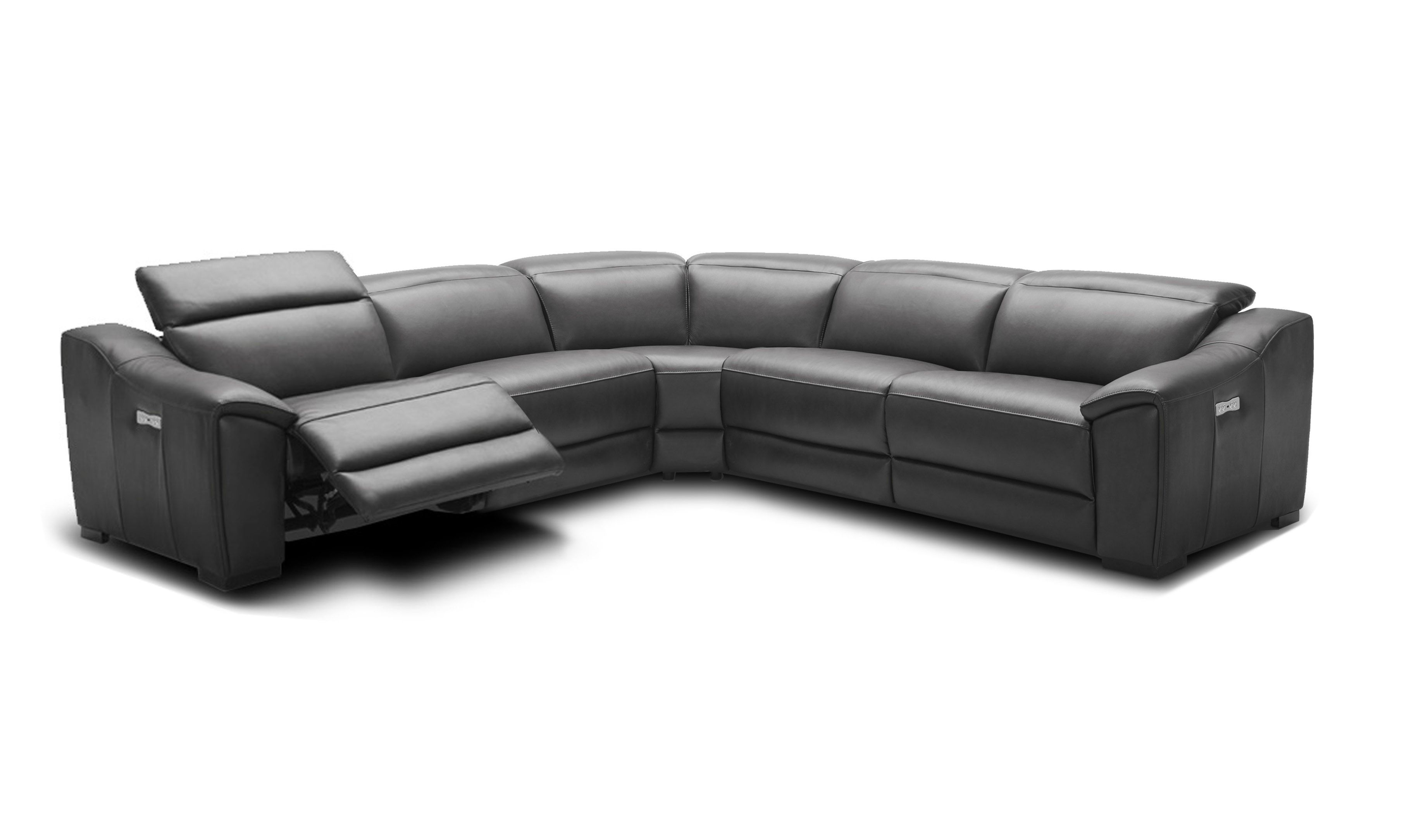 Advanced Adjustable Curved Sectional Sofa In Leather Italian Leather Sectional Sofa Sectional Sofa Leather Sectional Sofas