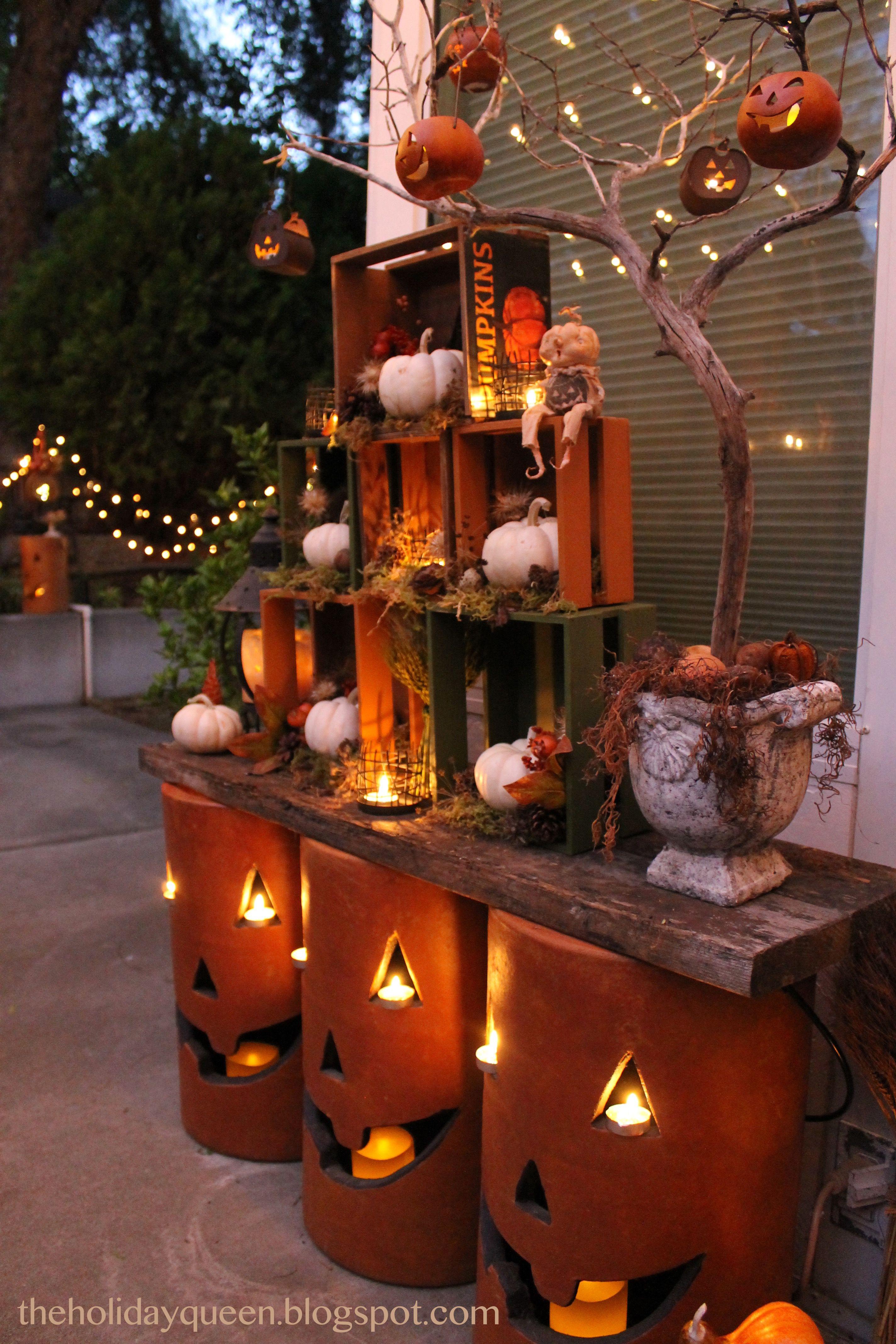 Home Depot Outdoor Pumpkin Luminaries Halloween outdoor