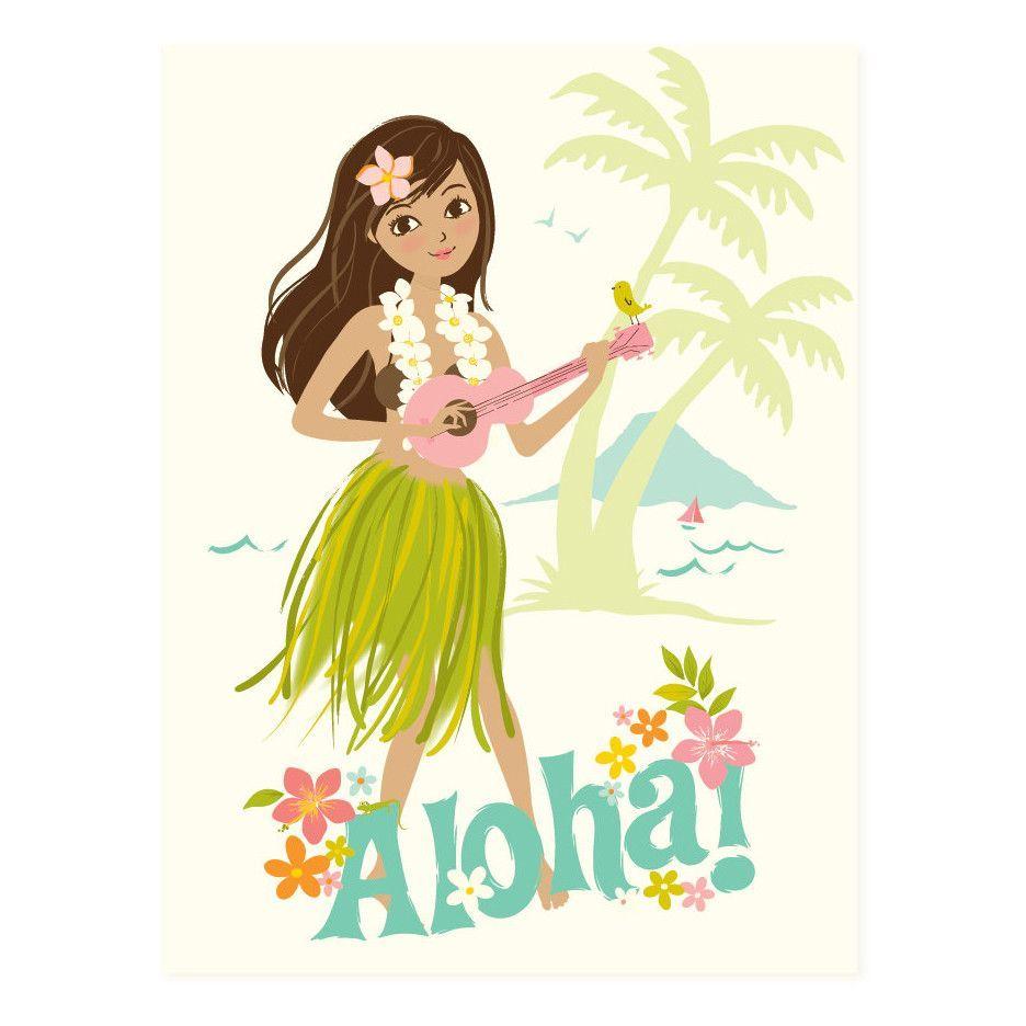 Aloha! Hula Girl Canvas Wall Art   Products   Pinterest   Hula girl ...