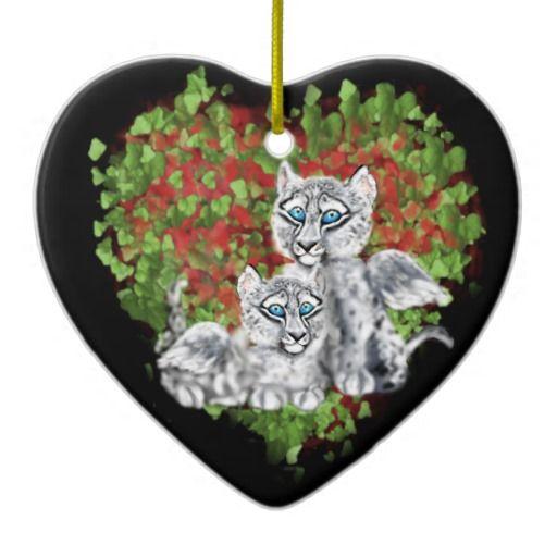 SWL-Love Duo Ceramic Christmas Heart Ornament