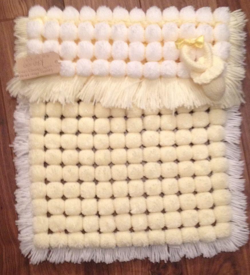 Knitting A Baby Blanket With Pom Pom Wool : Pom pram blanket baby strollers pinterest