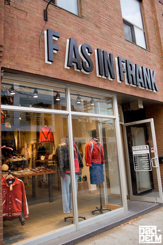 F As In Frank Vintage Clothing 418 Queen Street West Toronto Store November 2011 Photographer Melissa Vintage Outfits Vintage Hip Hop Fashion