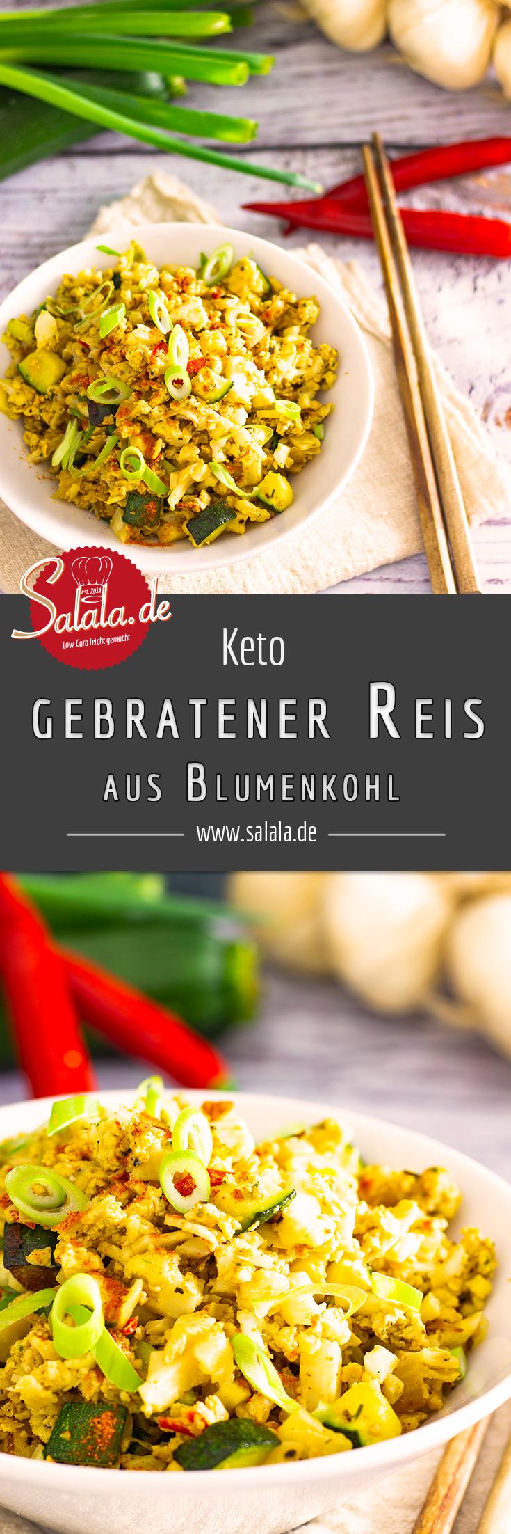 Blumenkohlreis, vegetarisch | salala.de – Low Carb leicht gemacht