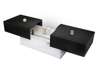 Table Basse City Box Coloris Noir Blanc Code Article 491225 Table Basse Table Basse Bar Table