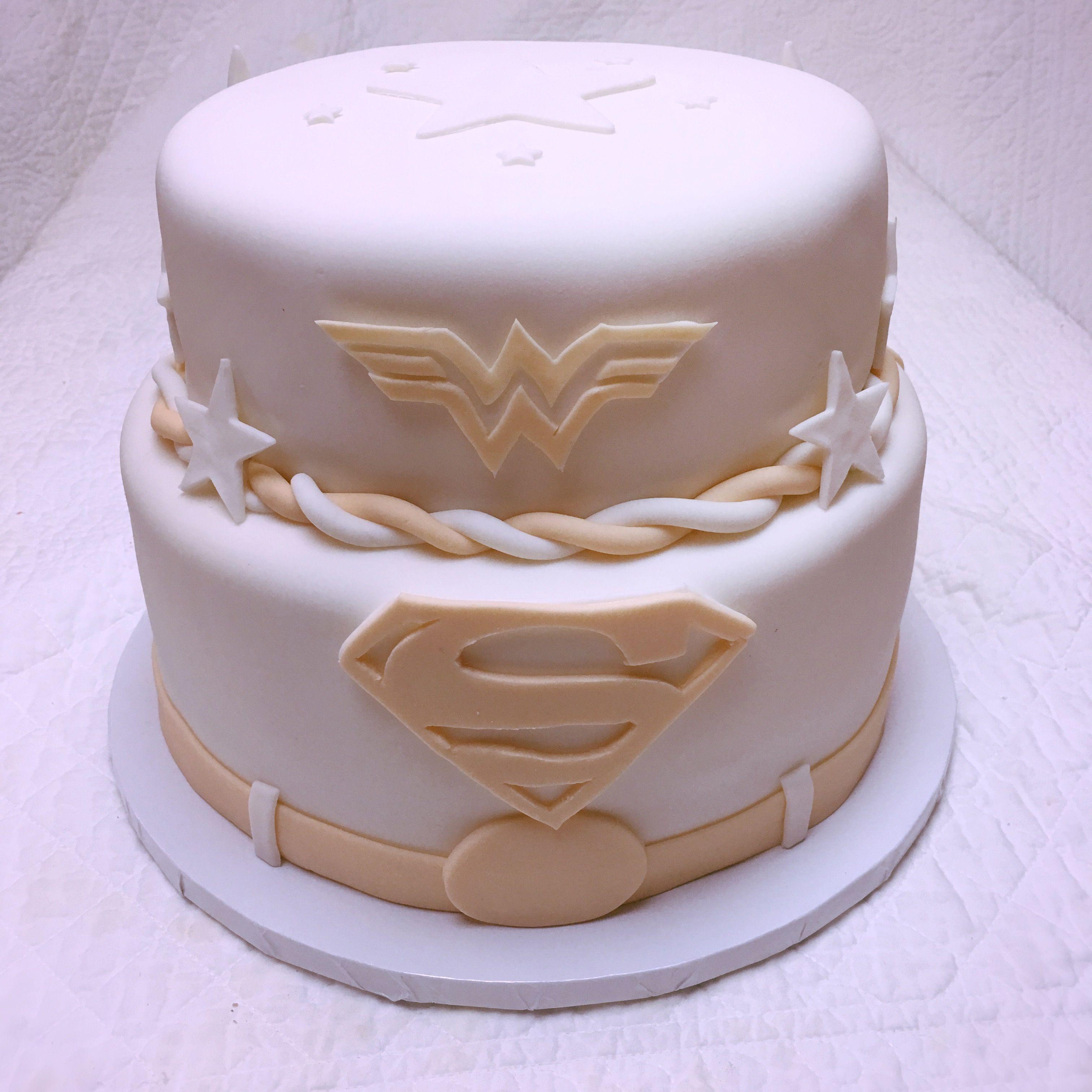 Superhero Vow Renewal Cake/wedding Cake.
