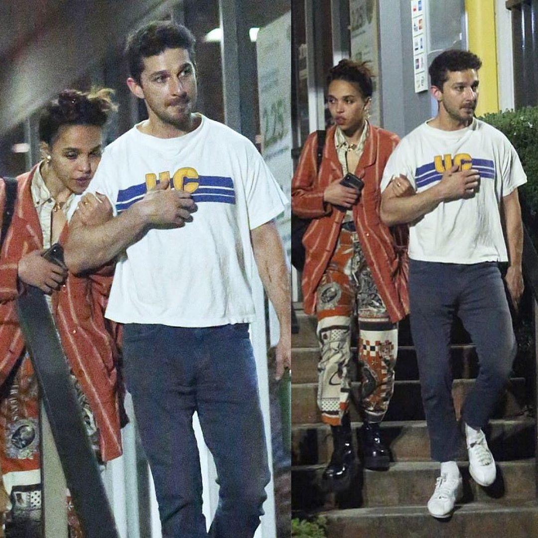 FKA twigs rests her head on boyfriend Shia LaBeouf during