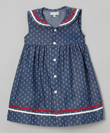 Love this Blue & White Anchor Babydoll Dress - Infant & Toddler on #zulily! #zulilyfinds