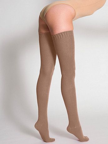 dd83ada04 Cotton Solid Thigh-High Socks from American Apperal! I want solid colors   tan