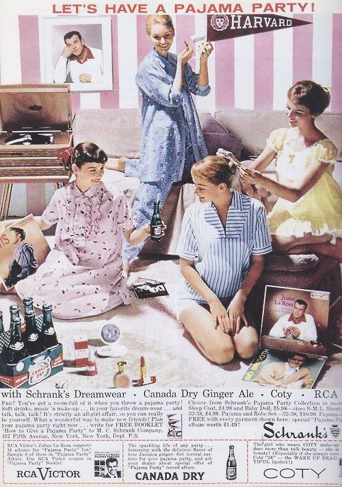 Let S Have A Pajama Party 1950s Advertisement Vintage Ads Vintage