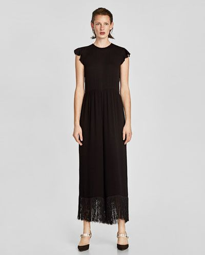 526f52842117 JUMPSUIT WITH HEM FRINGE-NEW IN-WOMAN