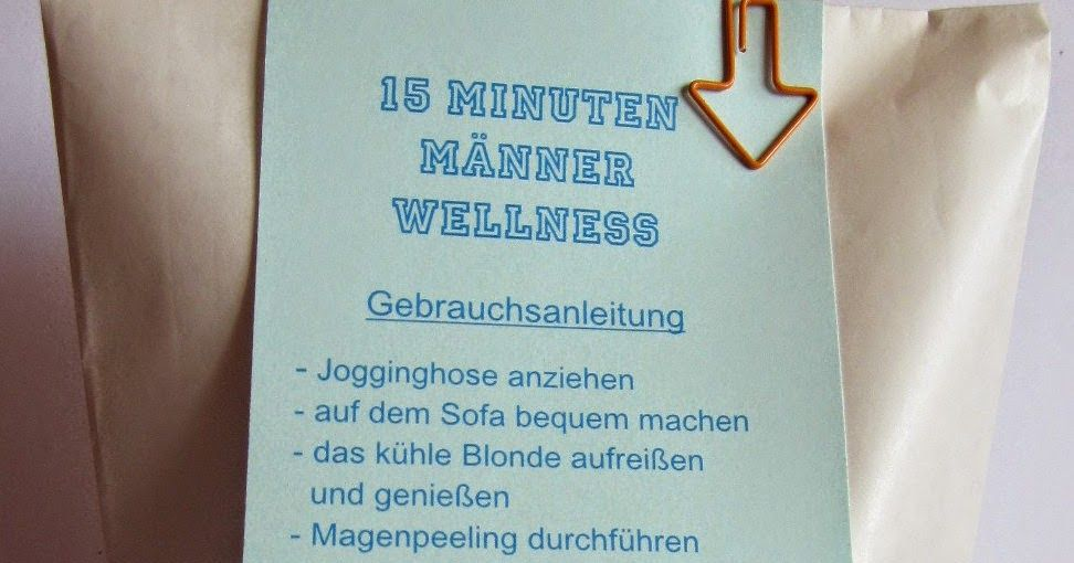 Diamantin´s Hobbywelt: 15 Minuten Männer Wellness