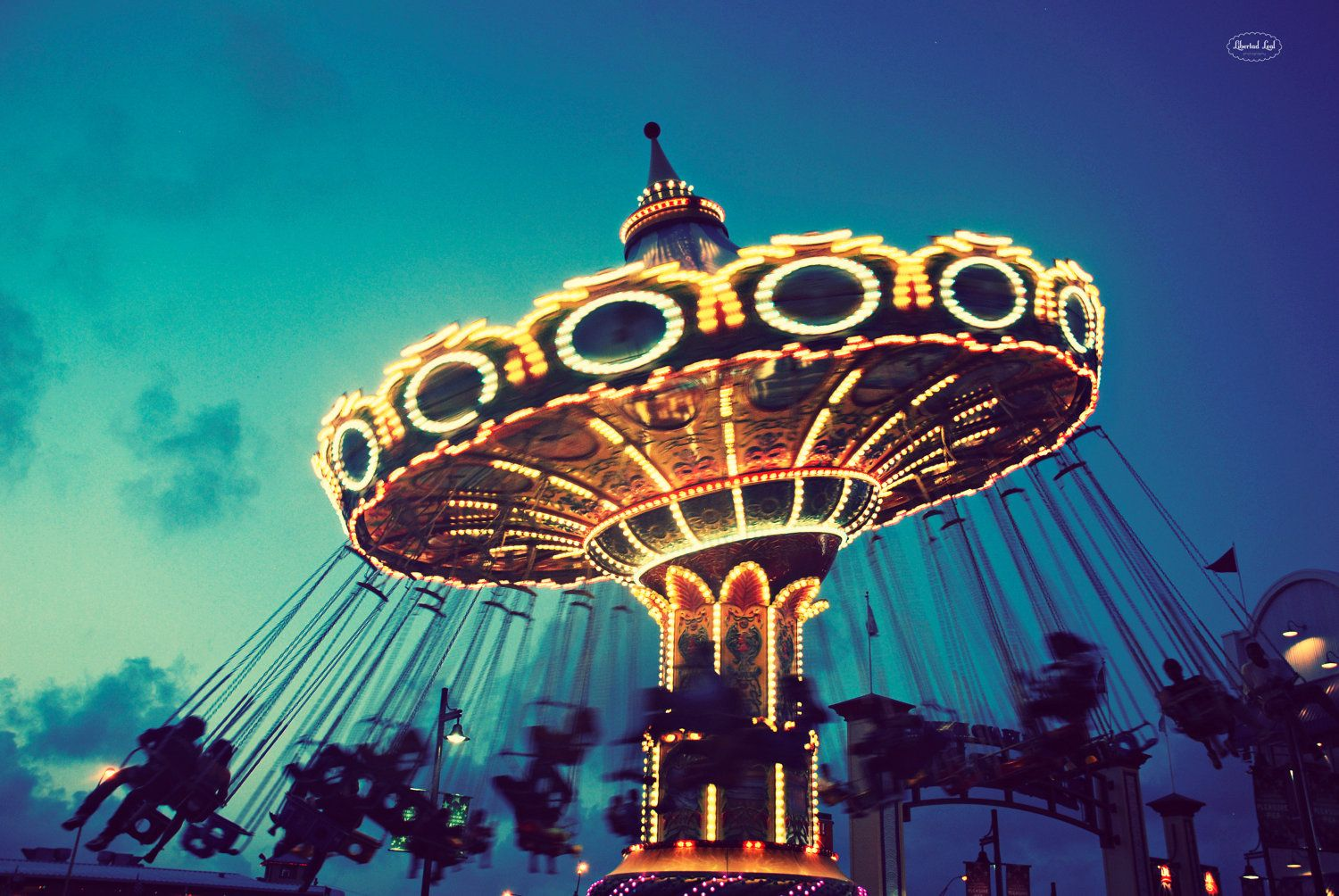 fine art photography retro fair ride carnival vintage