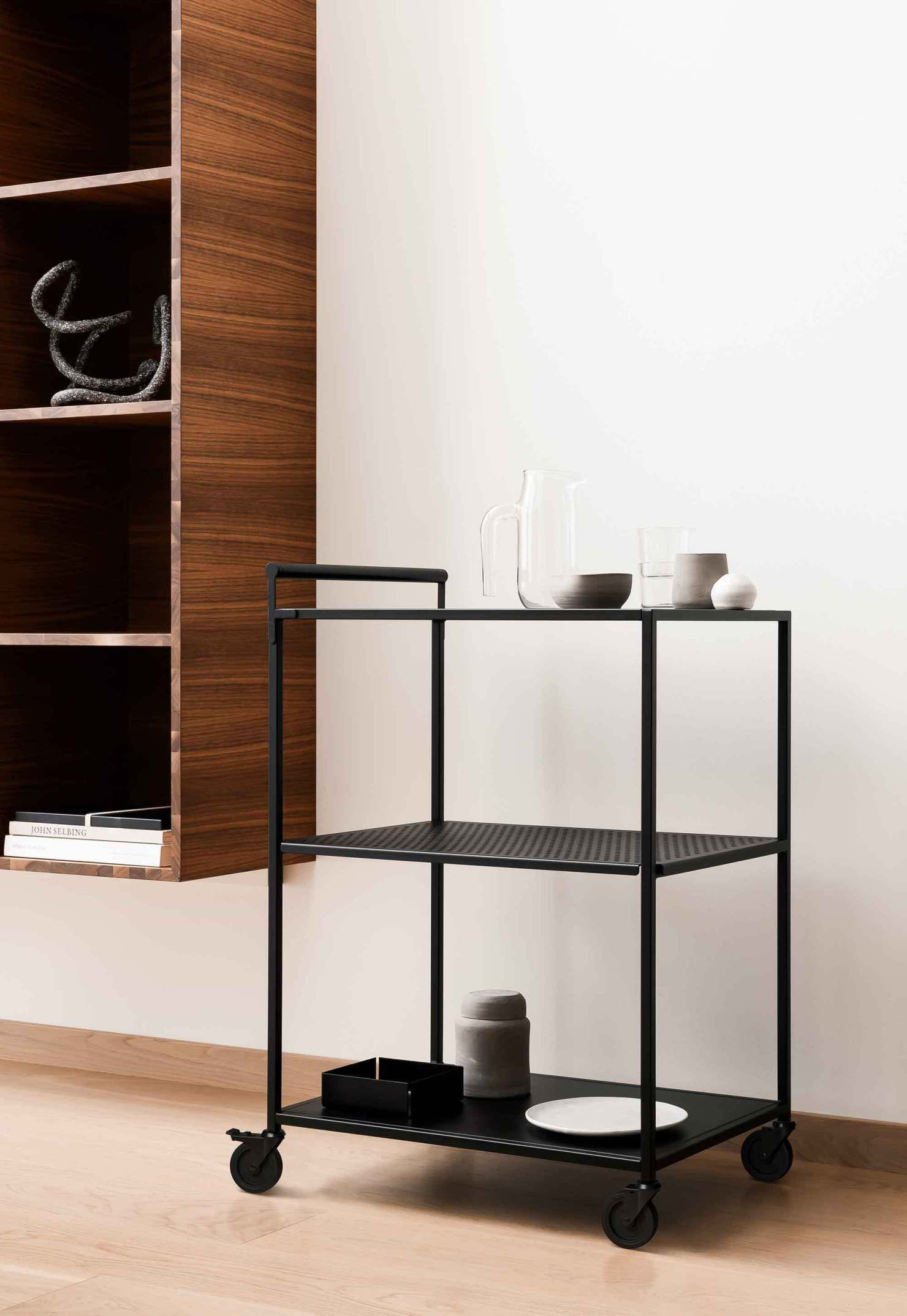 12 Of The Best Minimalist Bar Carts Serving Trolleys Serving Trolley Room Interior Design Design
