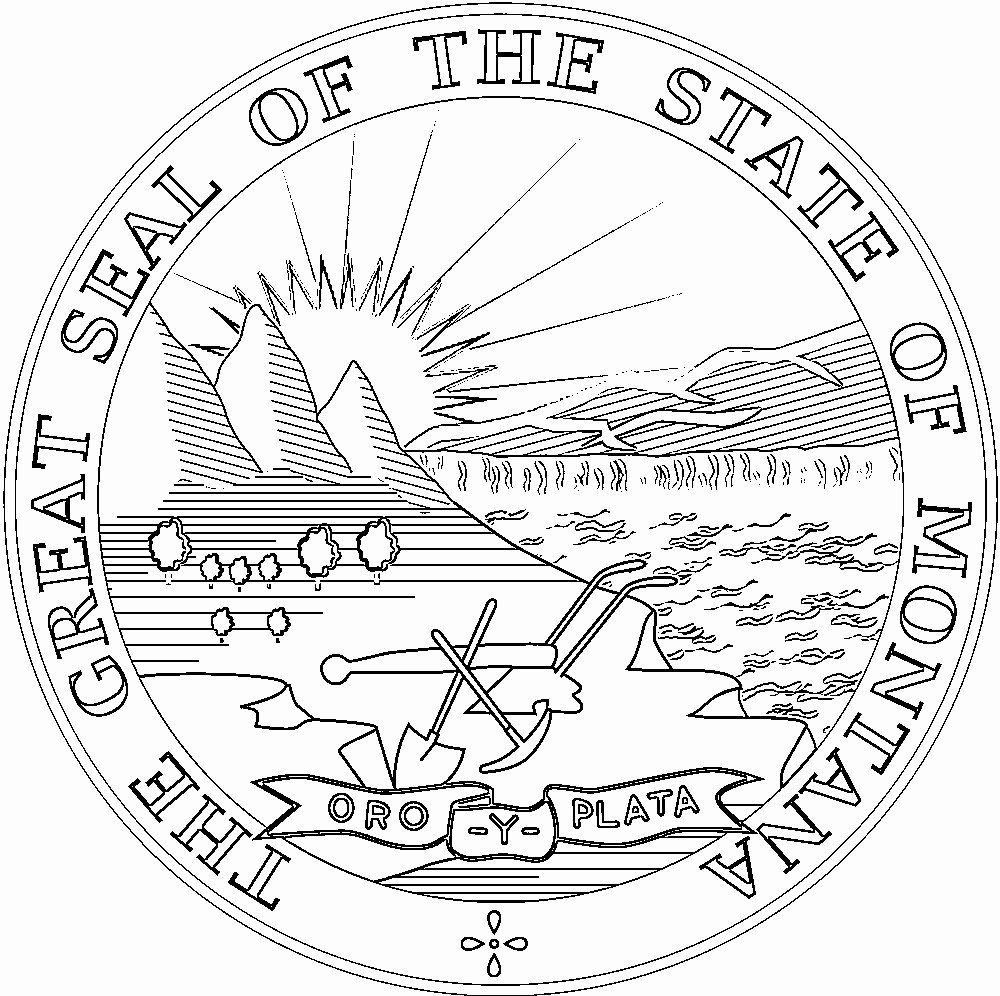 Montana State Flag Coloring Page Elegant Montana Flags Emblems Symbols Outline Maps Flag Coloring Pages State Flags Coloring Pages
