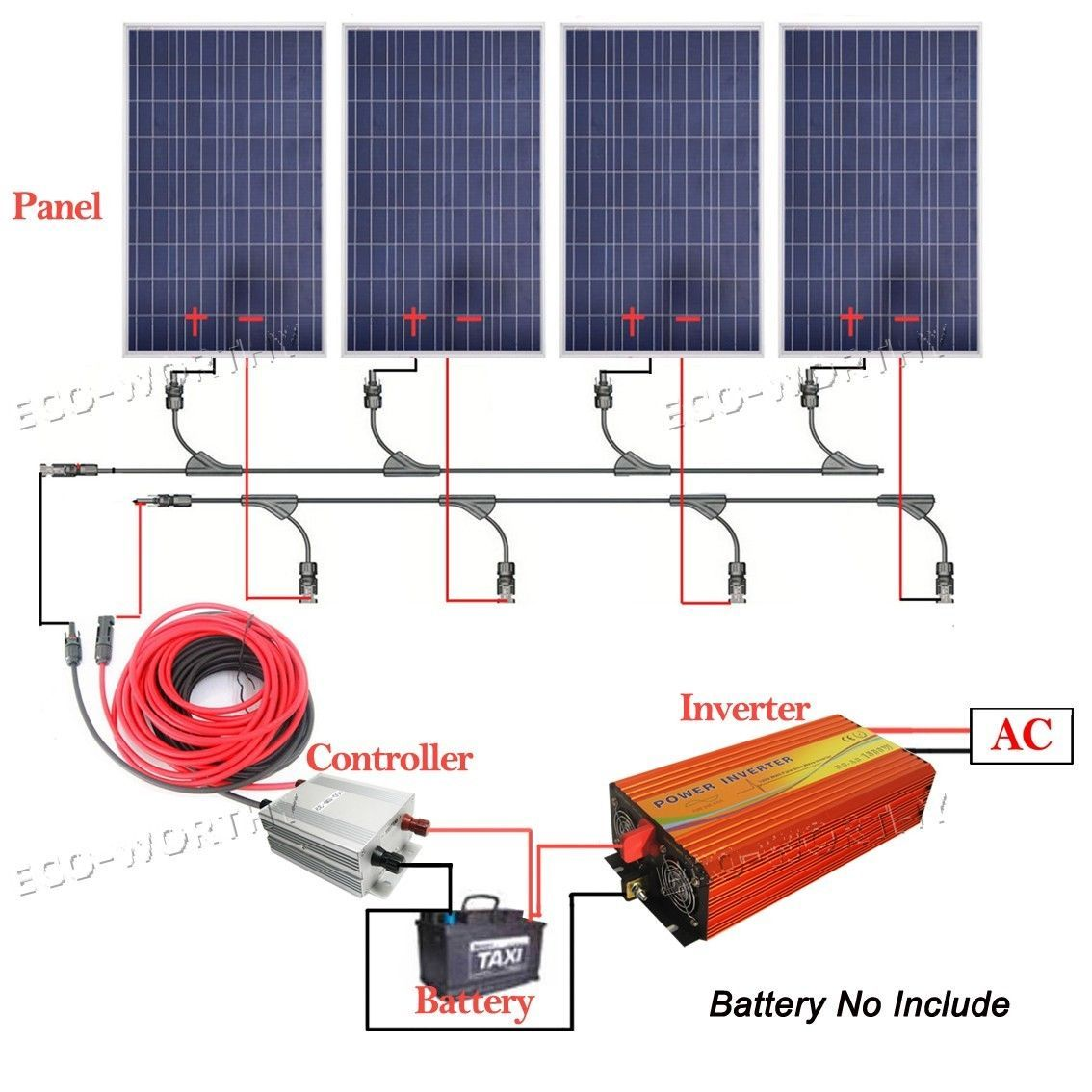 Eco 110v Off Grid Solar Panel Home System 100w 300w Solar Module 1kw Inverter Best Solar Panels Solar Energy Information Solar Projects