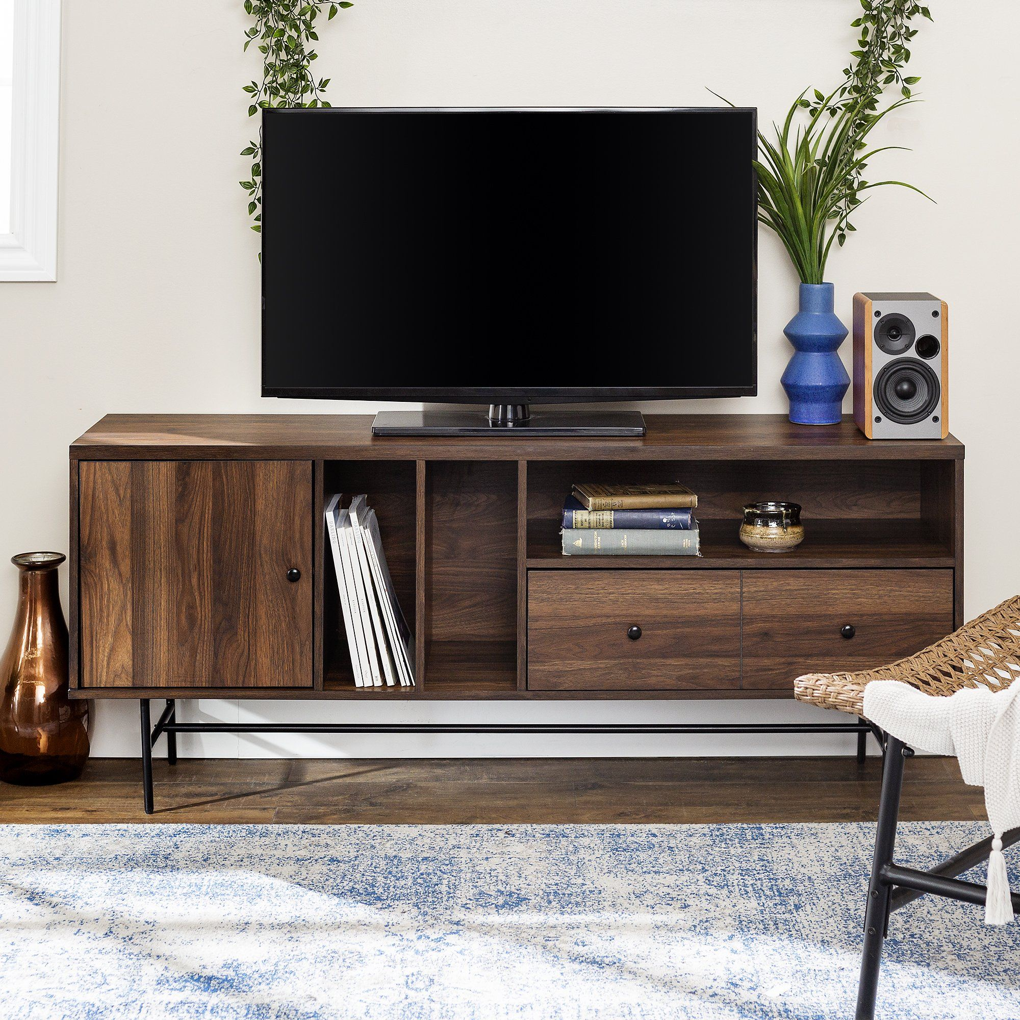 Jacklyn Modern Tv Console In 2021 Tv Console Modern Living Room Tv Stand Tv Console