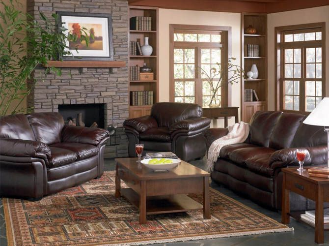 image result for wall paint ideas for small living room brown leather couch
