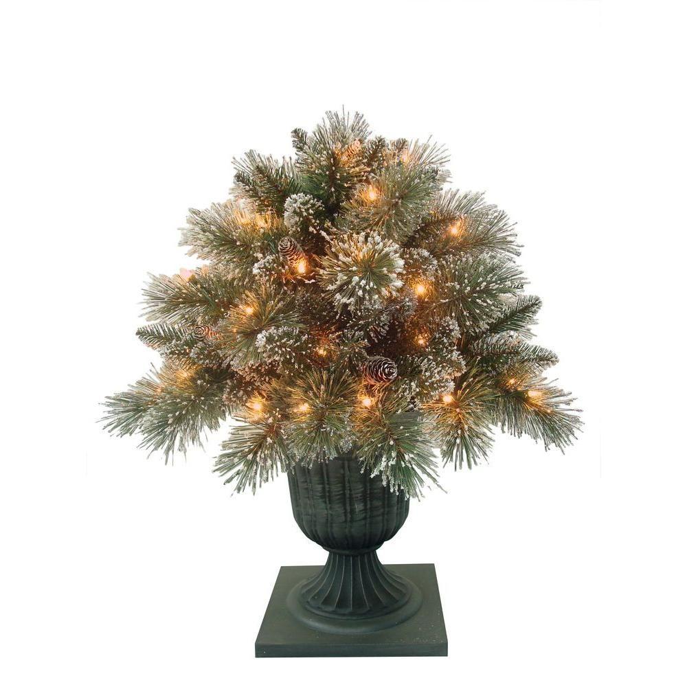 Martha Stewart 24 in. Sparkling Pine Potted Artificial