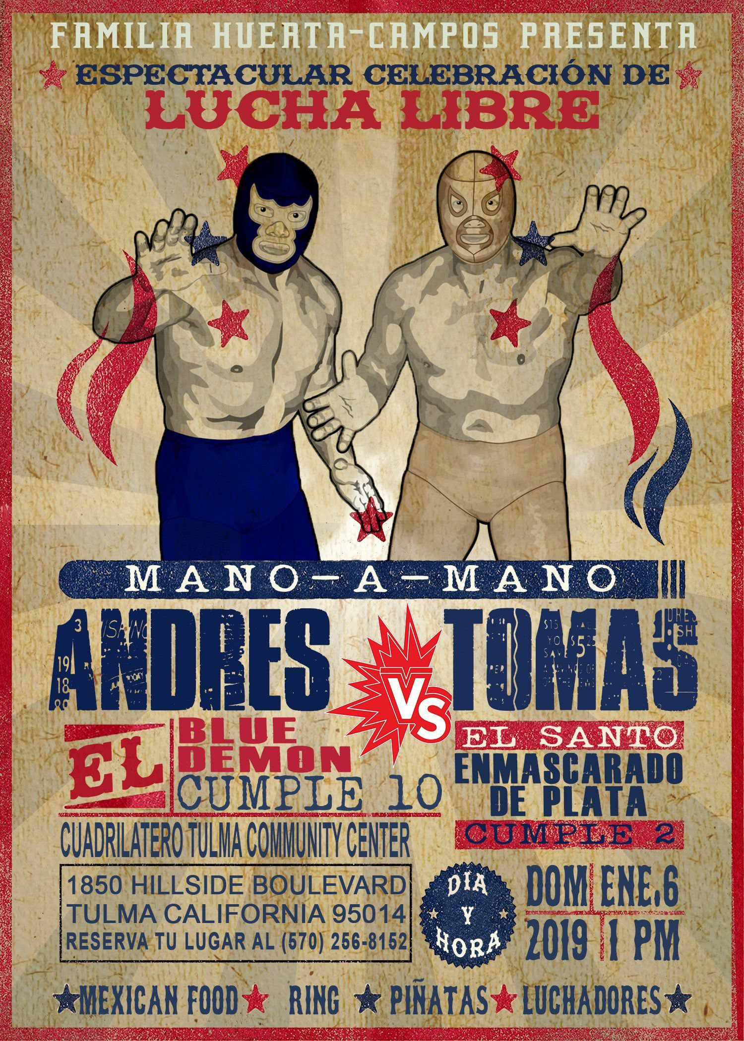 Mexican El SANTO luchadores Mexico Lucha libre Toy Wrestler Package Of 6 Figures